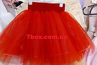 Фатиновая детская юбка 2-4 лет