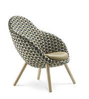 Кресло дизайнерское на деревянных ножках VIENI VE W 742 (Польша, Bejot)