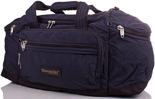 Мужская прочная дорожная спортивная сумка 60 л. Onepolar WB810-navy