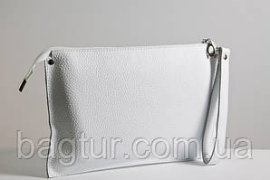 Клатч женский кожаный 01 белый флотар 03010102