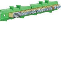 Клемма Hager KM17E защитная с держателем 1х25+8x16+8x10мм2