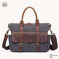Новая модель: Мужской винтажный портфель S.c.cotton