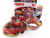 Набор детской стеклянной посуды (Тачки), фото 1