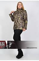Осенняя женская кожаная куртка на подкладке 50 -64 размера, фото 1