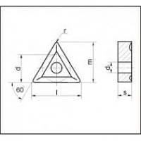 Пластина твердосплавная сменная 01114-160408 Т14К8