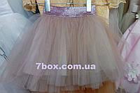 Фатиновая детская юбка 2-4 лет Пудра