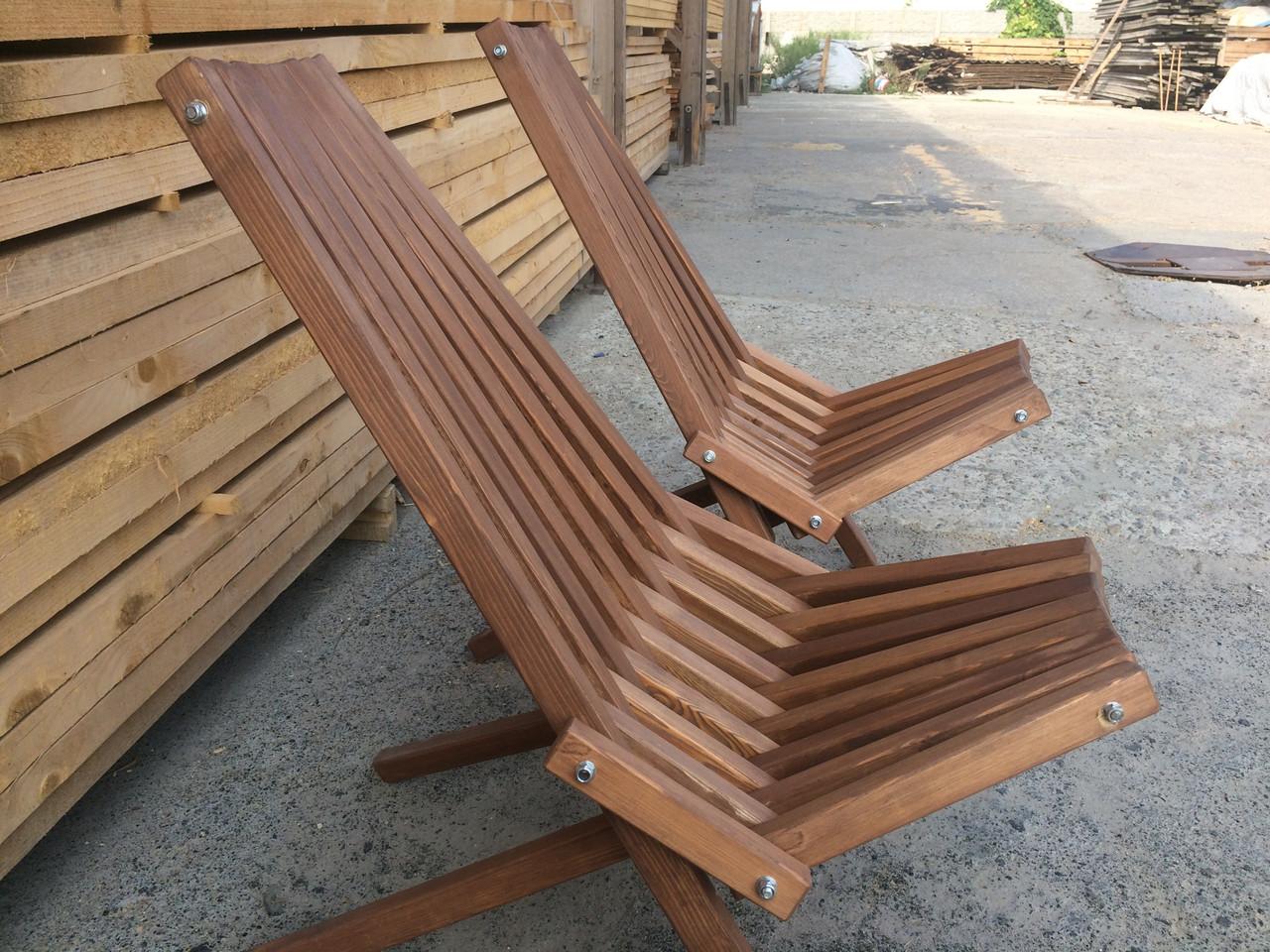 Шезлонг садовый деревянный Лиственница