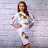 """Женское  платье с вышивкой """"Цветочный сад"""""""