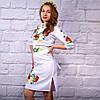 """Женское  платье с вышивкой """"Цветочный сад"""", фото 3"""