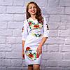 """Женское  платье с вышивкой """"Цветочный сад"""", фото 4"""