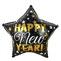 Фольгированный шар звезда С новым годом, 44 см (18'')
