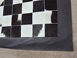 Ковер черно белый из коровьх шкурок, фото 2
