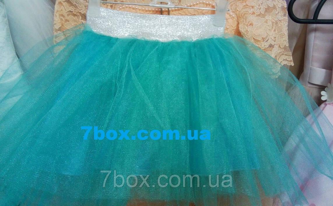 Фатиновая детская юбка 2-4 лет Мята