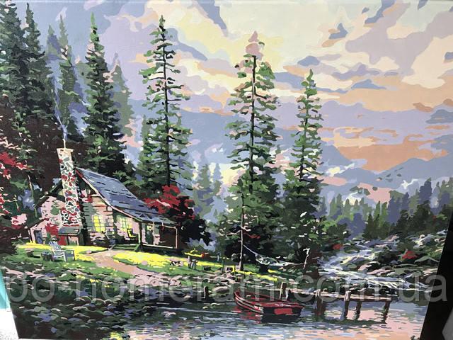Охотничий домик картина по номерам