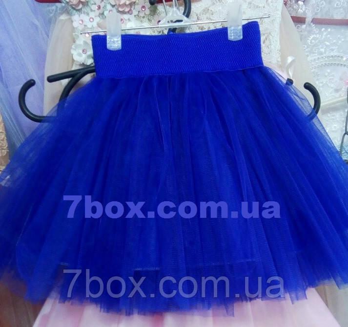Фатиновая детская юбка 2-4 лет Синяя
