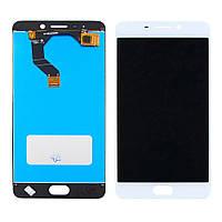 Дисплей для мобильного телефона Meizu M6 Note белый / с тачскрином