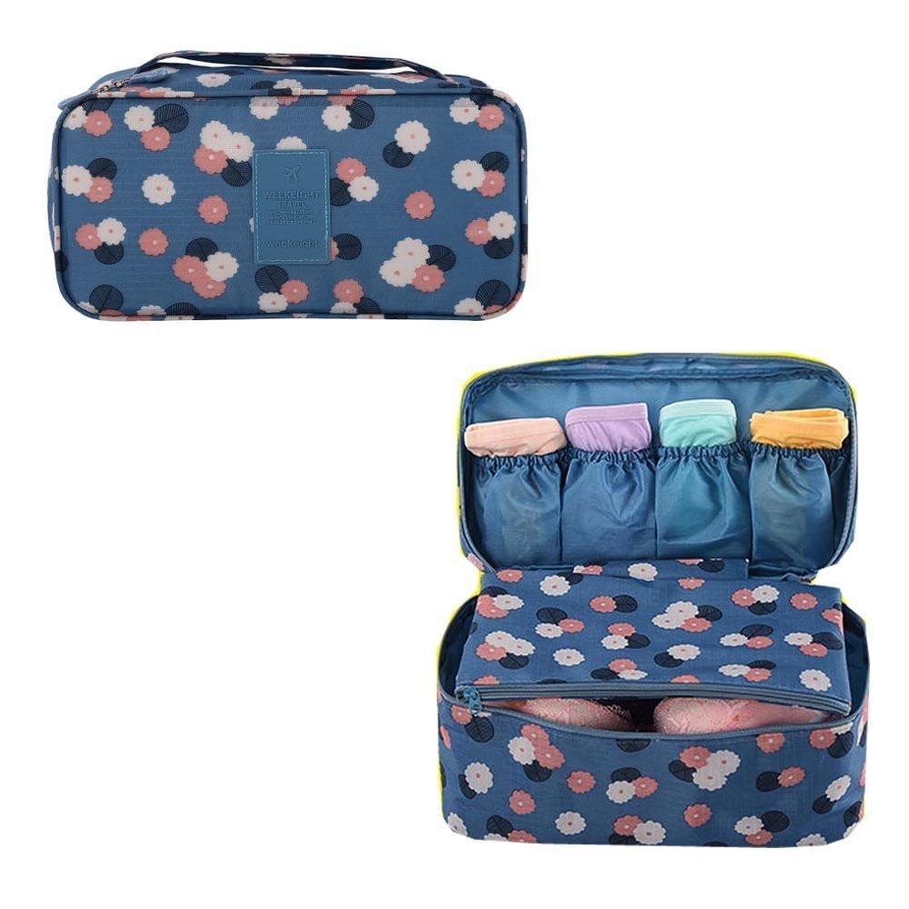 Органайзер для нижнего белья с рисунком Genner голубой в цветы 01051/01