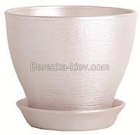 Горшок керамический цвет серебро (диаметр 8,5 см.)
