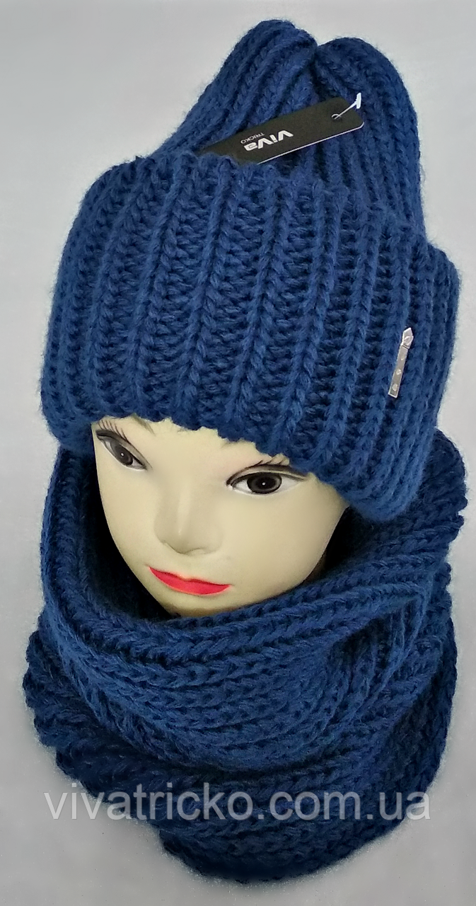 М 5078 Комплект женский шапка и баф , разные цвета