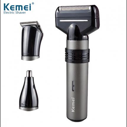 Электробритва мужская Kemei KM-1210 3в1 триммер для волос универсальный, фото 2