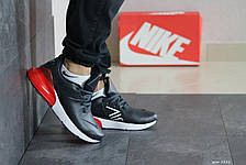 Мужские кроссовки Nike Air Max 270,темно синие с красным, фото 3