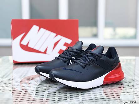 Мужские кроссовки Nike Air Max 270,темно синие с красным, фото 2