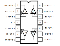 Микросхема LM324 DIP14