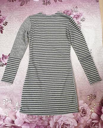 Платье для девочки КОМБИНАЦИЯ  р. 134-152 серый, фото 2