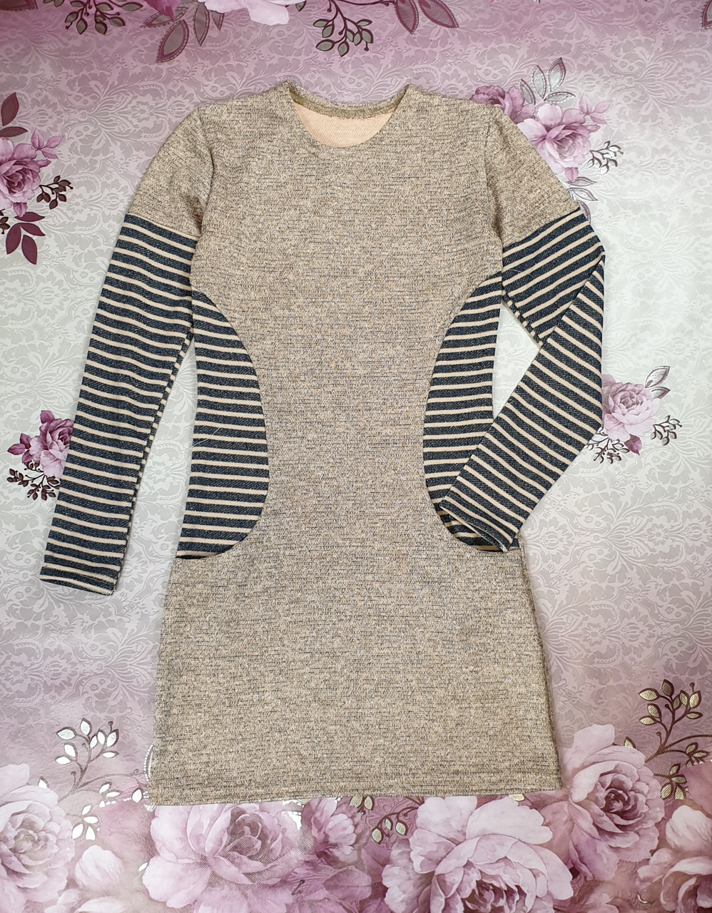 Платье для девочки КОМБИНАЦИЯ  р. 134-152 персик