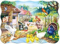 Пазлы для детей Сельский двор на 30 элементов Сastorland