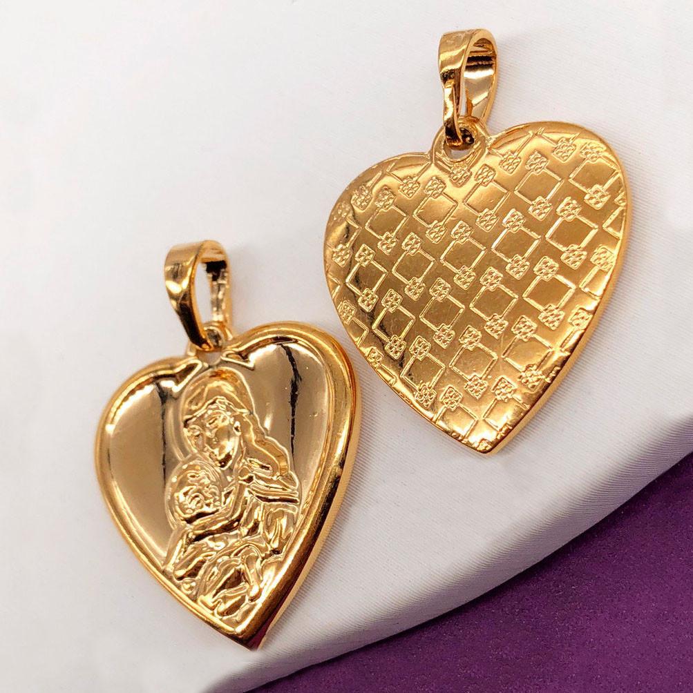 Ладанка Xuping Jewelry сердечко медицинское золото, позолота 18К. А/В 4117
