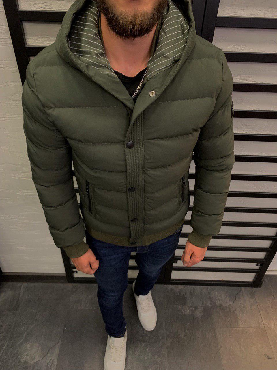Мужская куртка хаки 3026