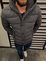 Мужская куртка серая 3026, фото 1