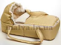 Переносная сумка-люлька для новорожденного Зимняя, фото 1