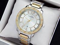 Женские кварцевые наручные часы  Пандора (Pandora) комбинированные, серебро-золото - код 1550, фото 1
