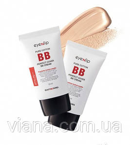 BB крем Eyenlip Pure Cotton Perfect Cover BB Cream  тон 21 Light Beige