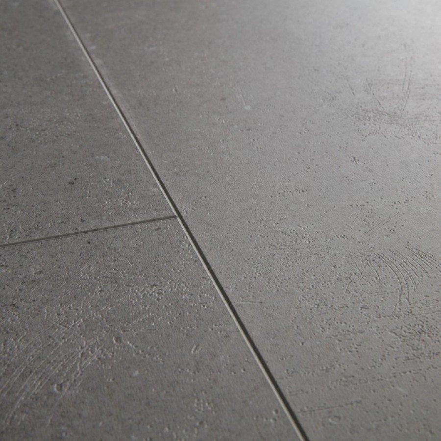 Виниловый пол Quick Step LIVYN AMBIENT Click Plus 33 класc Яркий умеренно-серый AMCP40138