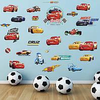 """Интерьерная наклейка в детскую, """"Тачки Макквин Racing"""", размер 30*60см."""