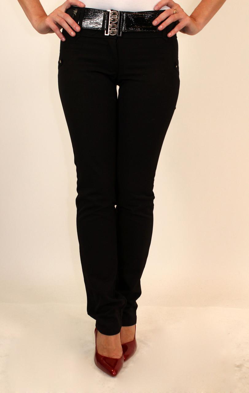 Узкие черные брюки женские 42-44 р