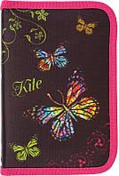 Пенал школьный KITE K15-622-3K Butterfly