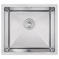 Кухонная мойка стальная Imperial квадратная (460x450 мм), глянец, сталь 1,2 мм (IMPD4645H12)