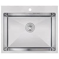 Кухонная мойка стальная Imperial прямоугольная (600x500 мм), глянец, сталь 1,2 мм (IMPD6050H12)