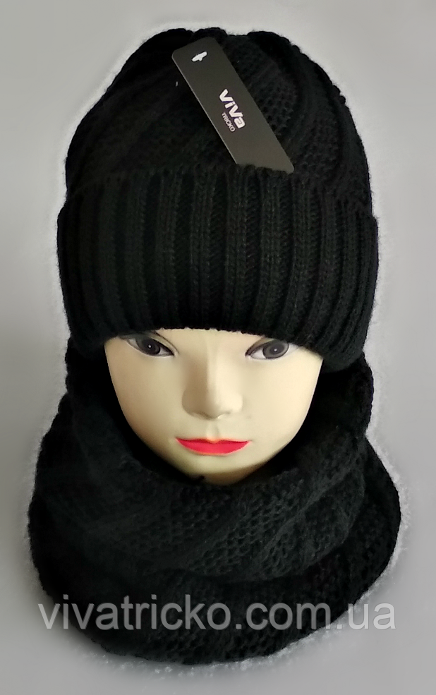 М 5091 Комплект женский шапка и баф , разные цвета
