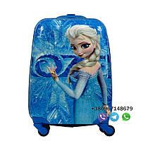 """Детский пластиковый чемодан на колесах Josef Otten Frozen """"Холодное сердце с Эльзой"""" ручная кладь,"""