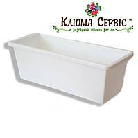 Балконный ящик для цветов, 40 см БЕЛЫЙ