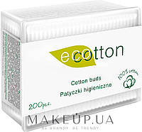 Ватные палочки Ecotton 200 шт в лотке