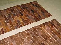Прикроватные коричневые коврики кирпичи