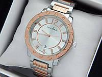Женские кварцевые наручные часы  Пандора (Pandora) комбинированные, серебро-розовое золото - код 1554, фото 1