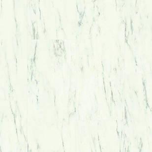Виниловый пол Quick Step LIVYN AMBIENT CLICK Каррарський мрамор 32кл AMCL40136