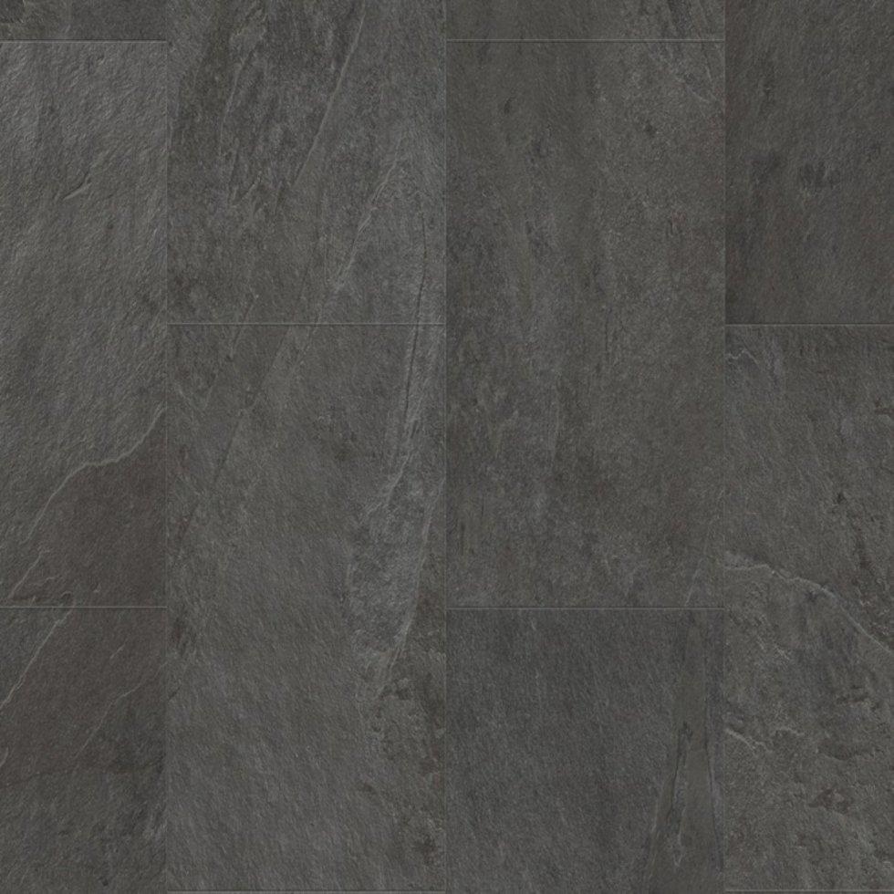 Виниловый пол Quick Step LIVYN AMBIENT Glue Plus 33 класc Сланец чёрный AMGP40035